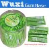 stick chewing gum in jar