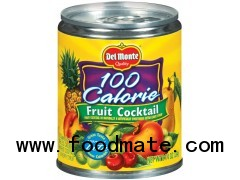 DEL MONTE 100 Calorie Fruit Cocktail In Extra Light Syrup W/Pull-Top Lid 8.25OZ CAN