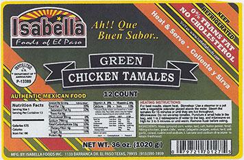 Green Chicken Tamales