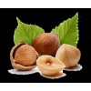 natural and processed hazelnuts
