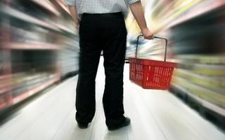 Man Grocery basket