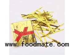 Bread Twist Tie/ Bread Bag Seal/ Bread Clip/PET Metallic Twist Tie