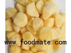 Frozen potato chunks