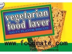 Vegetarian food laver salty flavor biscuit