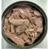 canned tuna flakes, canned tuna chunks and canned tuna loins in brine