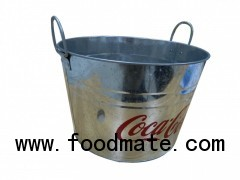 Cocacola ice tin bucket rustless bucket