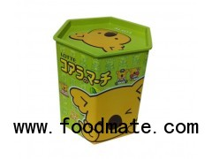 Bear cookie hexagon tin container
