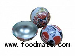Tin christmas ball ,candy tin ball