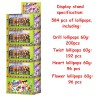 Large display stand with lollipops 60g