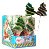 Hard candy lollipop 60g christmas tree fruit flavour