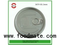 300#73mm aluminum easy open end for milk powder can