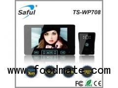 wireless video door phone installation Saful TS-WP708 1V1
