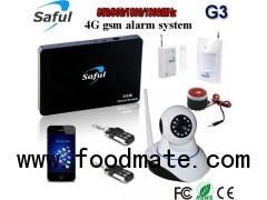 wireless gsm alarm system Saful G3 gsm wireless alarm with wifi IP camera