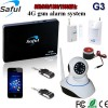 wireless gsm alarm system Saful G3 gsm wireless alarm with wifi IP camera