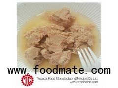 Canned tuna chunk in water