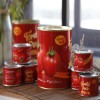 Homemade tomato paste canned