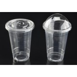 Customize 20oz PET Cold Drink Cups With Flat Lid