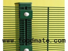 Zinc-Aluminum 358 High Security Mesh with Channel Posts, Rails and Concertina Razor Barbed Tape