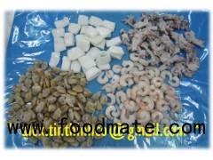 frozen seafood mix, frozen seafood skewer