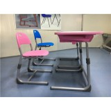 H1091ae Kids Desk And Chair Set Pink