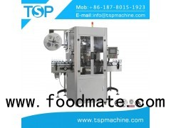 Automatic empty bottle casting & shrink sleeve labeling machine