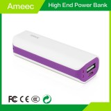 2600mAh Portable White Phone Charger With LED Display Ameec AMJ-7117