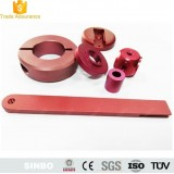 Precision CNC machining Turning Lathe Hard Red Anodized Aluminum Parts