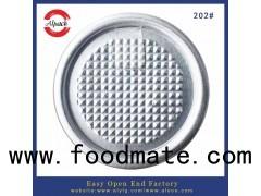 202# aluminum easy open peel off end