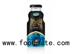 Glass Bottle Energy Drink Power Energy Drink With Coconut Pulp