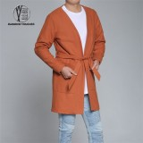 Tied Waist Men Coat