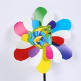 Spring Plastic Colorful Outdoor Garden Advertising Windmill Plastic Party Wedding Park Decoration DI