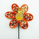Glittering Peacock Layer Wedding Festival Party Decoration Ornament Plastic Outdoor Windmill Mylar P