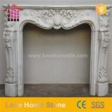 New Fashionable Stylish Marble Top Effect Fireplace With Limestone Surround Surround