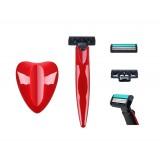 Triple blade razor for woman