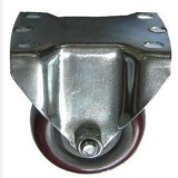 3 Purplish Colored Wheel Fixed Casters For Lean Pipe