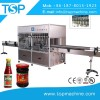 Peanut oil jam glass can jar filler machines and metal cap sealing equipment