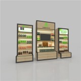 Health Products Wooden Metal Luminous Display Cabinet With Lightbox Poster,furniture Shelves