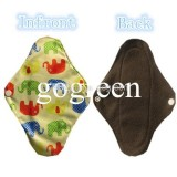 Reusable Washable Bamboo Charcoal Women Girls Feminine Menstrual Cloth Pads Soft Panty Liner Breatha