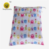 Baby Best Printed Double Pocket Chevron Baby Diapers Wet Bags