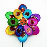Dual Glittering Insects Layers Wedding Festival Party Decoration Ornament Plastic Outdoor Windmill M