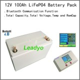Deep Cycle LiFePO4 12V 100Ah Battery Packs For Marine ,boat And Solar Led Lighting