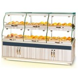 Customized Wooden Food Glass Confectionery And Supermarket Display Rack Cabinet Counter Showcase