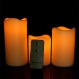 Flameless Plastic Pillar Remote Control LED Candles For Christmas Decor