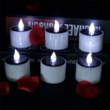 Solar Powered Pillar Flameless Votive LED Tealight Candle