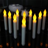 Battery Operated Taper Candles With Timer, LED Battery Timer Taper Candles Bulk