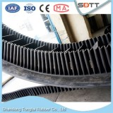 EP Fabric Core Large Angle Corrugated Sidewall Rubber Conveyor Belt With TC Shape Cleat For Iron Ore