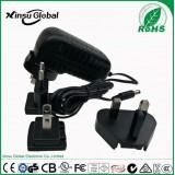 Multi Plug AC DC Power Adapter 24 Volt 1 Amp Transformer with UK EU US JP AU Plugs