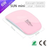 New Design Sun Mini 6w UVLED Nail Lamp With USB Interface