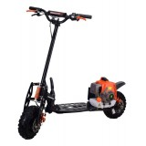 71cc Two Stroke Folding Gasoline Scooters With Disc Brake And 3 Speeds Shifter