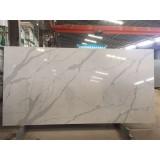 Artifical Calacatta White Quartz Stone , Engineered Stone, Best Quartz Slabs